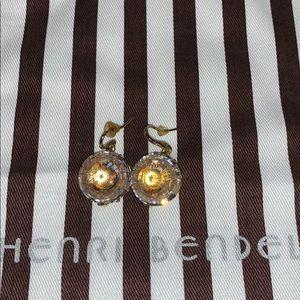 Henri Bendel hanging crystal earrings